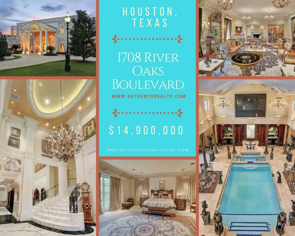 Luxury Home in Houston, Texas For Sale $14,900,000 #beverlyhills #beverlyhillsmagazine #luxury #realestate #homesforsale #houston #texas #dreamhomes