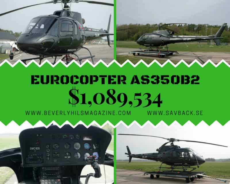 Eurocopter AS350B2 $1,089, 534 #Helicopter  #beverlyhills #beverlyhillsmagazine #bevhillsmag #helicopters #dream #luxury #aircraft #cool #aircrafts