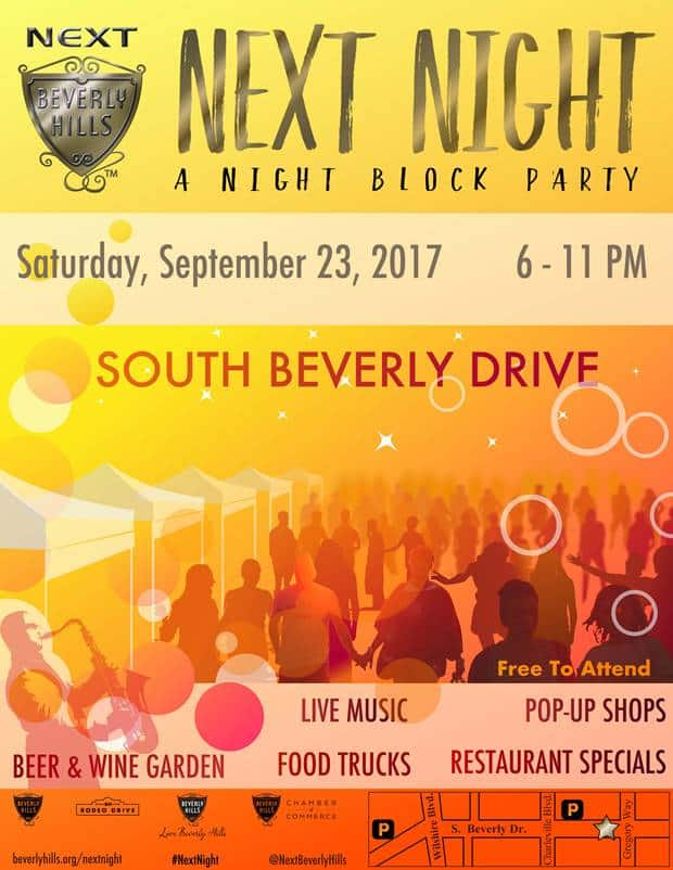 NEXT NIGHT Beverly Hills Block Party
