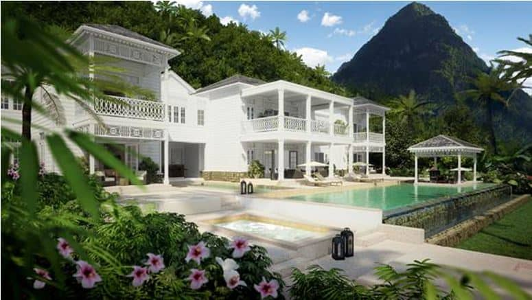 St lucia homes for sale beverly hills magazine for Luxury houses in beverly hills for sale