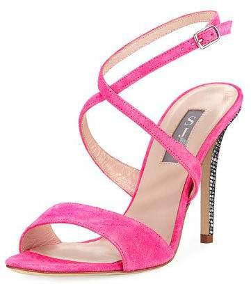 Pink Suede Heels by SJP. BUY NOW!!! #BevHillsMag #beverlyhillsmagazine #fashion #style #shopping