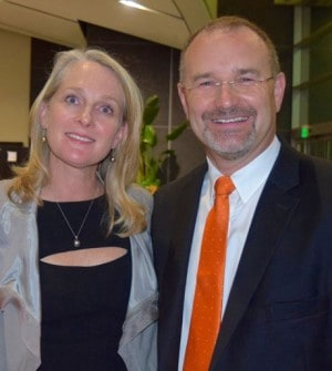 Piper Kerman and Robert Coleman, President and CEO of Second Chance