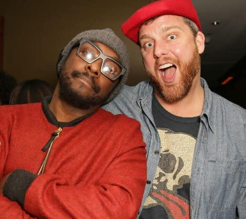 Will.I.Am and Friend at Pre-Grammy Pa