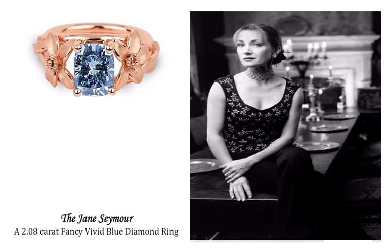 The Jane Seymour Blue Diamond Ring and $2Million Dining Experience