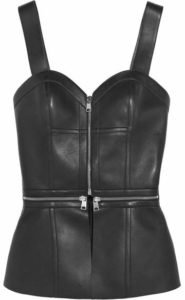 Alexander McQueen Leather Bustier. BUY NOW!!! #BevHillsMag #beverlyhillsmagazine #fashion #style #shopping #shoes
