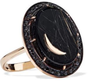 Black Onyx Moon Ring. BUY NOW!!!