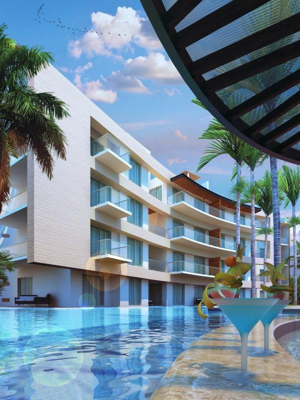 Azul Fives One Bedroom Essence Swim Up Suite