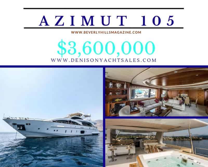 Azimut 105 Yacht For Sale $3,600,000 #beverlyhills #beverlyhillsmagazine #bevhillsmag #yacht #megayachts #travel #luxury #lifestyle #superyachts