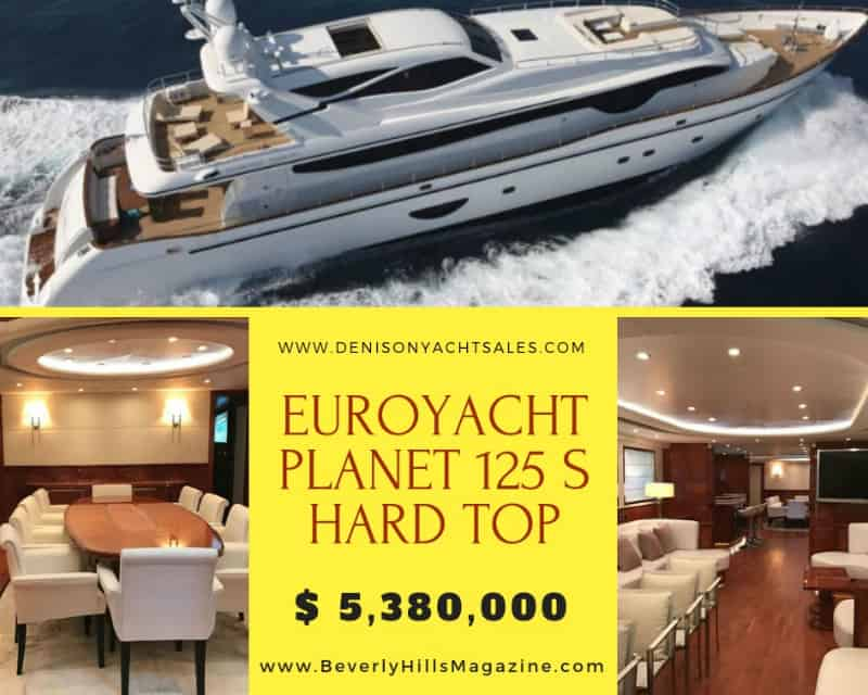 Euroyacht Planet 125 S #luxury #yachting #life #yachts #yachtcharter #luxury #life #yachtlife #yachtclub #travel #lifestyle #beverlyhills #BevHillsMag