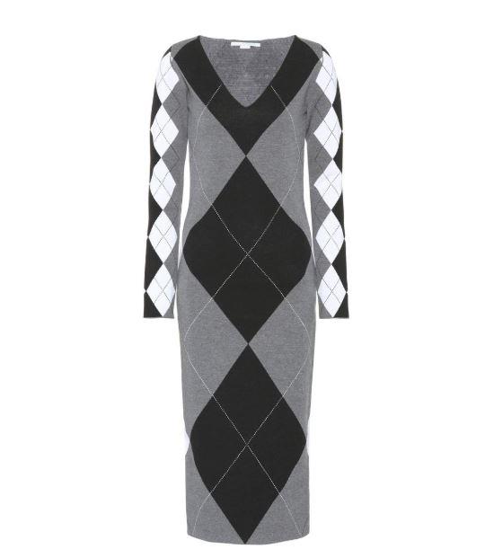 Stella McCartney Argyle Sweater Dress. BUY NOW!!! #beverlyhills #beverlyhillsmagazine #bevhillsmag #shop #fashion #style #handbags #stellamccartney #dress #shopstyle