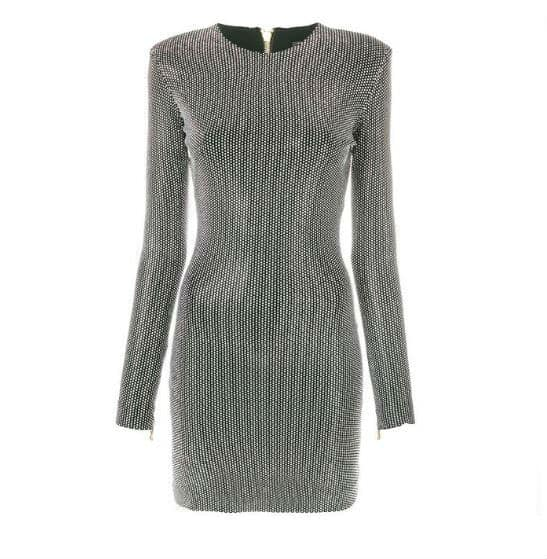 Silver Balmain Dress. BUY NOW!!! #beverlyhillsmagazine #beverlyhills #fashion #style #shop #shopping #shoes #highheels