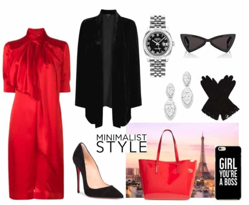 Classy Red & Black Style