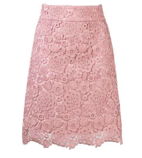 Blumarine Lace Skirt. BUY NOW!!! #shop #fashion #style #shop #shopping #clothing #beverlyhills #dress #beverlyhillsmagazine #bevhillsmag #skirts #pink #skirt