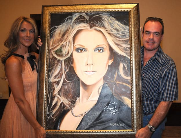 Portrait of Celine Dion by Paul Treleven