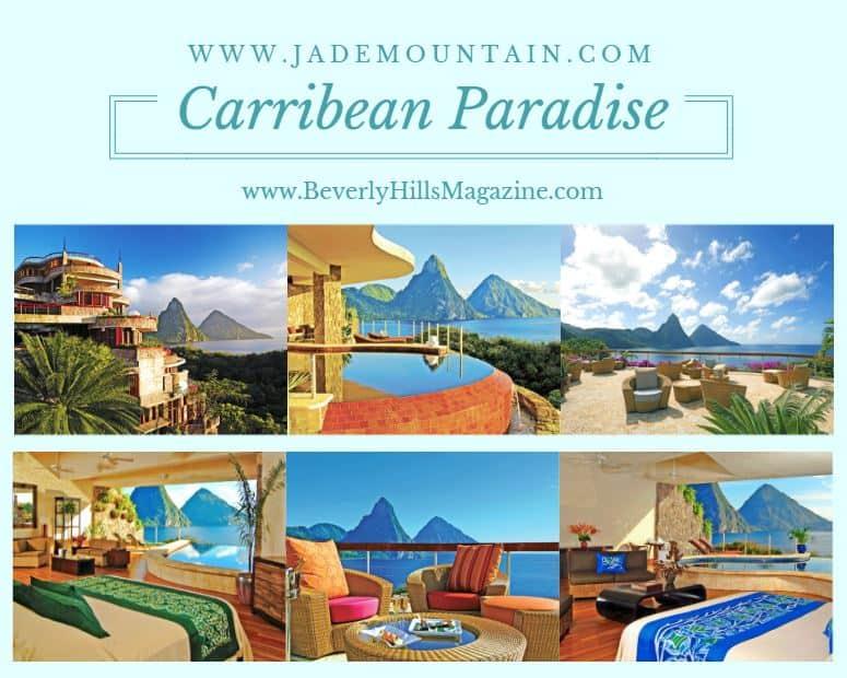 Vacation at the Luxurious Jade Mountain #vacation #travel #bucketlist #beverlyhills #beverlyhillsmagazine #caribbean #beach #resorts #jademountain