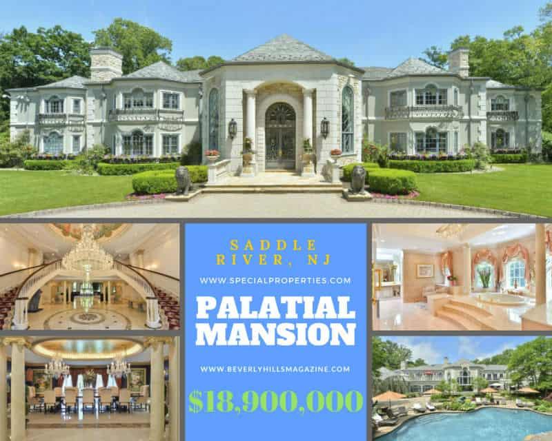 Palatial #Mansion in Saddle River, New Jersey $18,900,000 #beverlyhills #beverlyhillsmagazine #luxury #realestate #homesforsale #newjersey #dreamhomes #beverlyhills #bevhillsmag #beverlyhillsmagazine