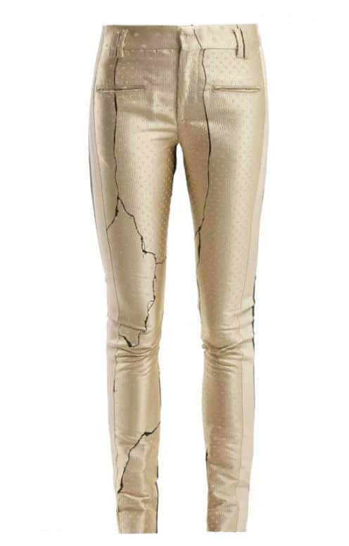 Haider Ackermann Gold Pants. BUY NOW!!! #beverlyhillsmagazine #beverlyhills #fashion #style #shop #shopping #shoes #highheels #GOLD