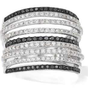 White & Black Diamond Ring. BUY NOW!!!