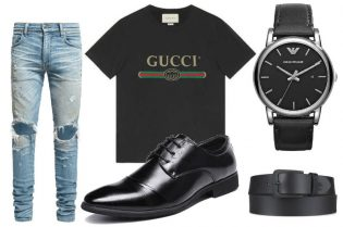 Casual GUCCI Style For Men. SHOP NOW!!! #fashion #style #shop #styles #styleformen #manstyle #styles #shopping #clothes #clothing #guystuff #beverlyhills #beverlyhillsmagazine
