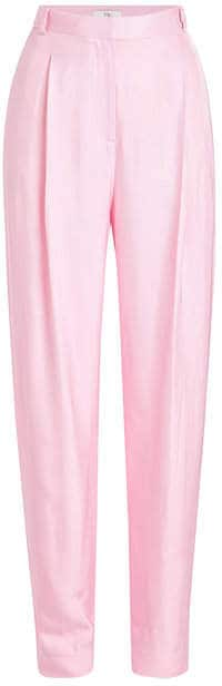 Pink Tibi Trousers. BUY NOW!!! #BevHillsMag #fashion #style #shopping #beverlyhillsmagazine
