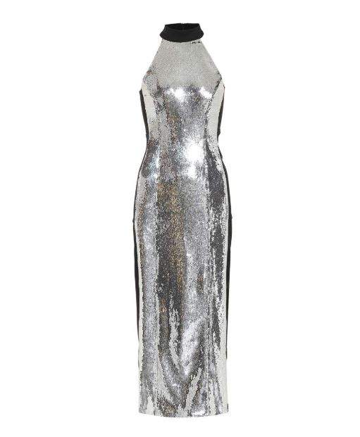 Galvan Silver Sequin Dress. BUY NOW!!! #shop #fashion #style #shop #shopping #clothing #beverlyhills #beverlyhillsmagazine #bevhillsmag #dress #silver