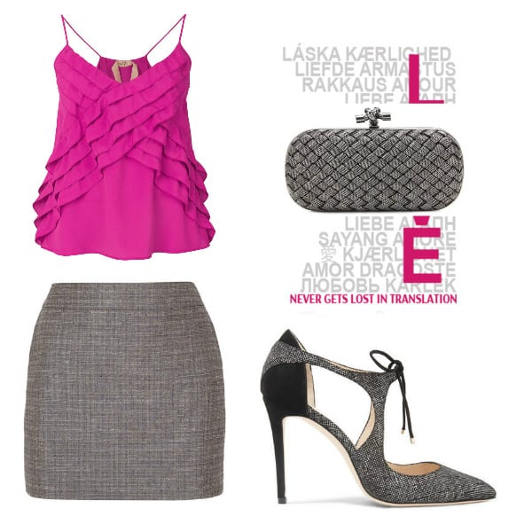 Pink & Gray Style. SHOP NOW!!! #BevHillsMag #beverlyhillsmagazine #fashion #style #shop #shopping