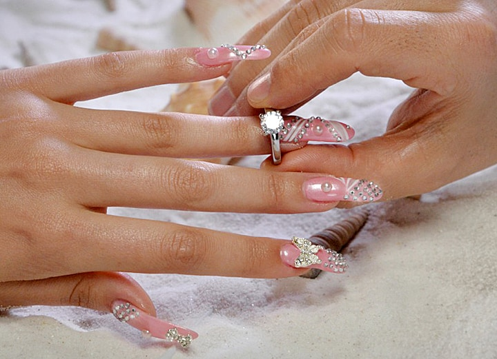 $25,000 Luxury Nail Manicure with Diamonds