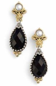 Black Onyx and Pearl Earrings. BUY NOW!!!