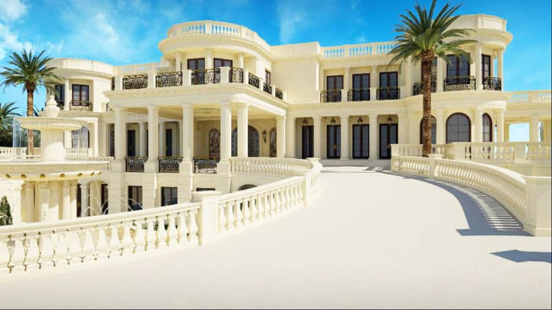 La palais royal mansion beverly hills magazine for Beach house construction cost
