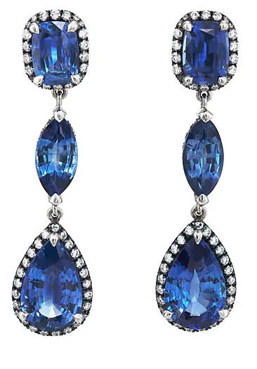Blue Sapphire Earrings. BUY NOW!!! #beverlyhills #watches #shop #jewelry #necklace #rings #earrings #bevhillsmag #bevelryhillsmagazine