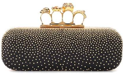 Alexander McQueen Clutch. BUY NOW!!! #BevHillsMag #fashion #shopping #shop #style #beverlyhillsmagazine #beverlyhills #jewelry