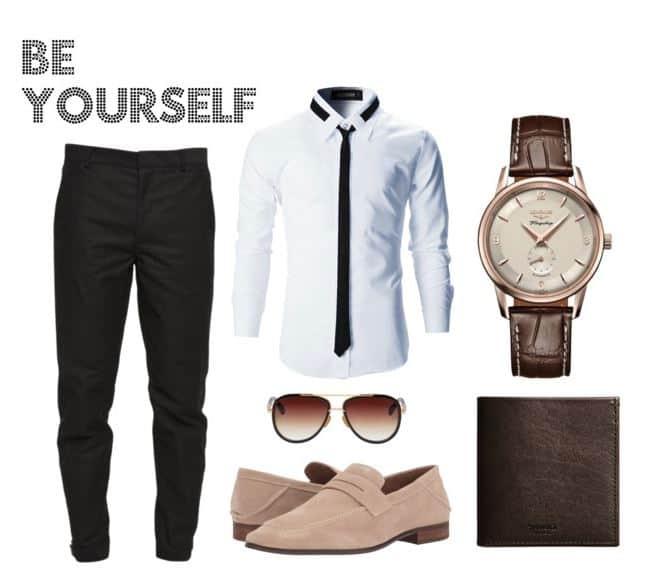 Brown & Black Style For Men