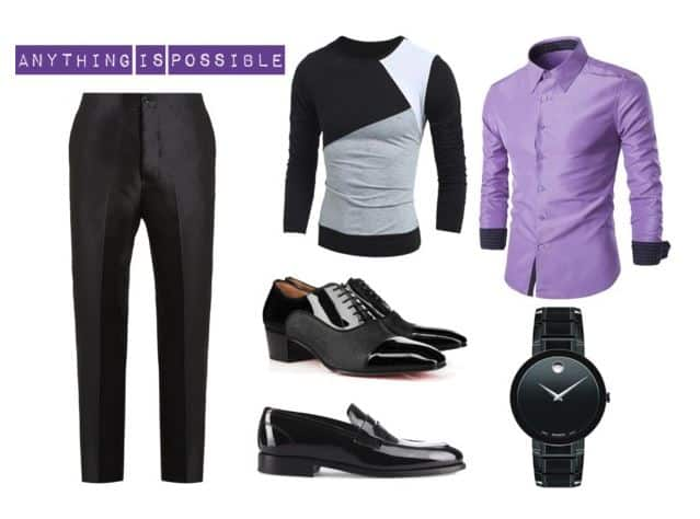 Cool Men's Style With Purple