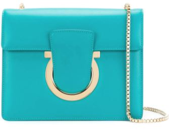Salvatore Ferragamo Handbag in Turquoise. BUY NOW!!!