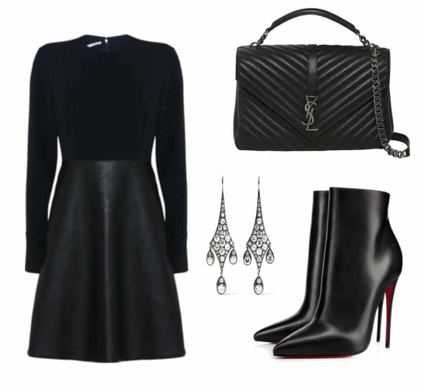 Sella McCartney Black Dress Style. SHOP NOW!!! #BevHillsMag #beverlyhillsmagazine #fashion #style #shopping