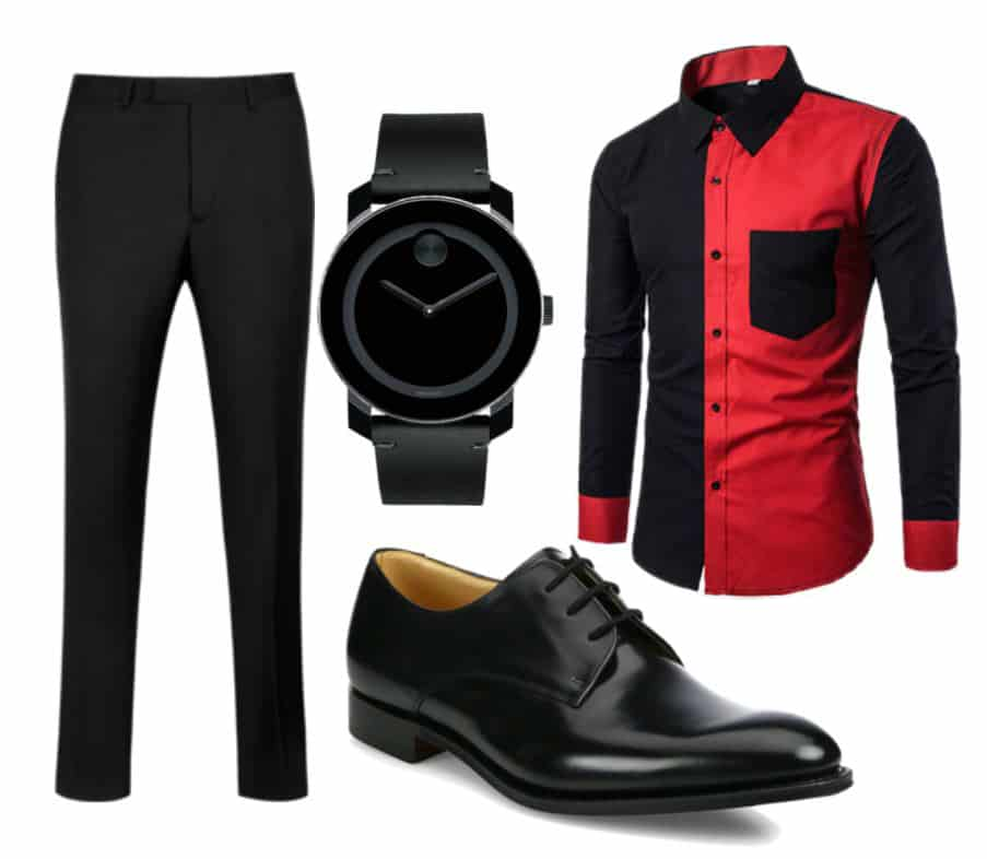 Black & Red Style For Men